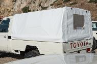 Land Cruiser 79 Single Cabin Pick-Up rear PVC canopy