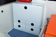 Locker with 4 draw units