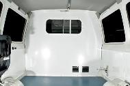 Wipe clean interior panels, partition & window