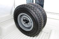 Prolongación de soporte original del Land Cruiser 79 para una segunda rueda de repuesto