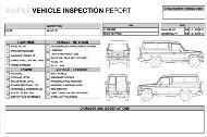Fahrzeuginspektionsbericht – Beispiel