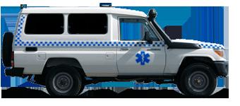 Ambulance pour premiers soins de réanimation