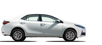 Corolla Automático 1.8L Gasolina, 5 plazas volante a la izquierda.