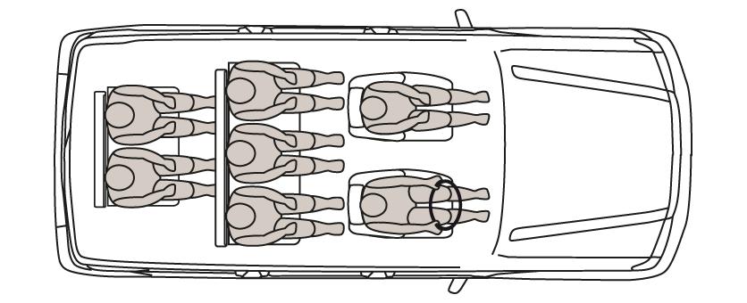 Disposición de los asientos