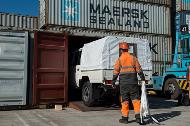 Containerised shipment through Algeciras port