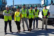 L'équipe logistique de TGS en visite chez d'importants fournisseurs au port d'Algésiras