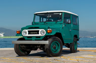 Toyota Land Cruiser BJ40 - Now on the TGS meeting room terrace
