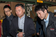 L'équipe de direction de Toyota Tsusho en visite chez TGS